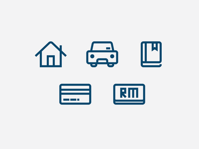 Icons for iMoney icon vector svg outline