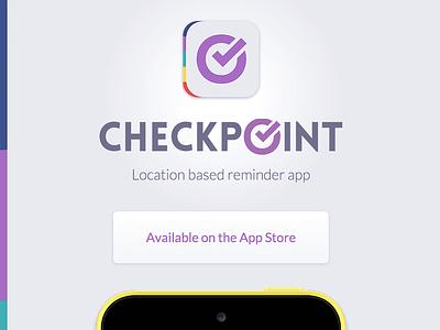 Checkpoint App ui ios icon purple