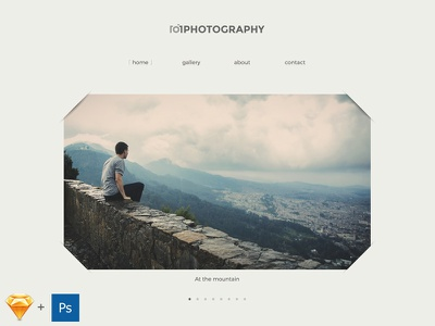 101photography - Free Theme in Sketch & PSD sketch psd photography theme free download