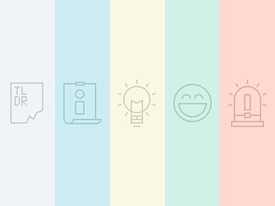 Content Blocks alerts outline icon content