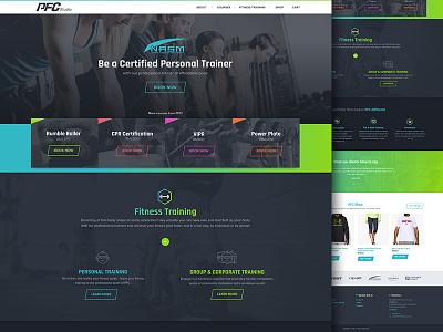 Fitness Studio web design dark sports fitness