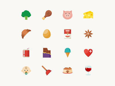 Groceries Category Icons groceries food icon