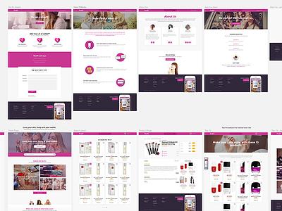 Favful Webapp Mockup design web