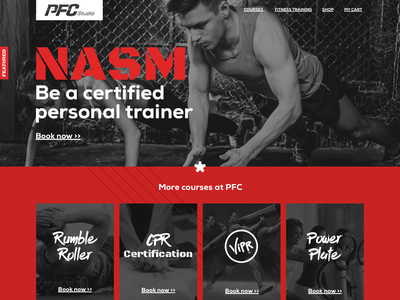 PFC - Personal Fitness Coach gym red web design fitness