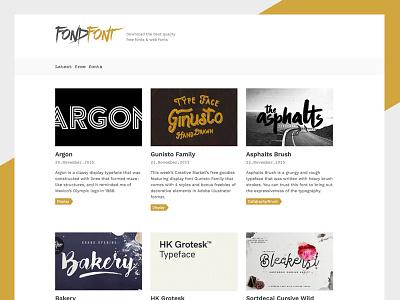 FondFont white gold free font