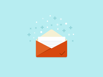 Email sent success email illustration icon