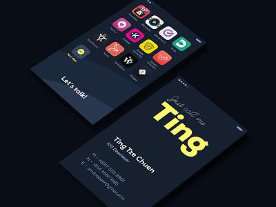 Just call him Ting print dark name card