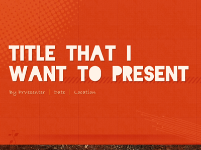 Presentation Slide Front Page By Jayhan On Dribbble