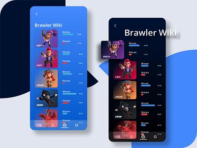 Brawl Stars Stats App mobile app uidesign ui mobile ui blue mobile app design app