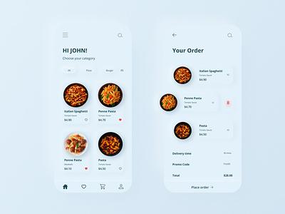 Food Mobile App Design neumorphism skeumorphism neumorph neumorphic design neumorphic cards food app food app design cart concept design concept ux app design mobile app ui