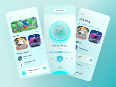 Music Player App concept design mobile app pause beats clean concept music app mobile app design mobile playlist artist music song music player music player app ux uiux ui