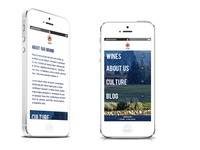 Fusion Wine Mobile Site