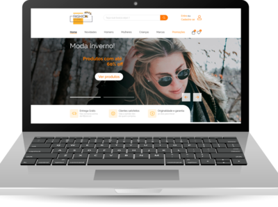 Projeto de uma Landing Page para uma loja online. uxdesign ux uidesign ui design