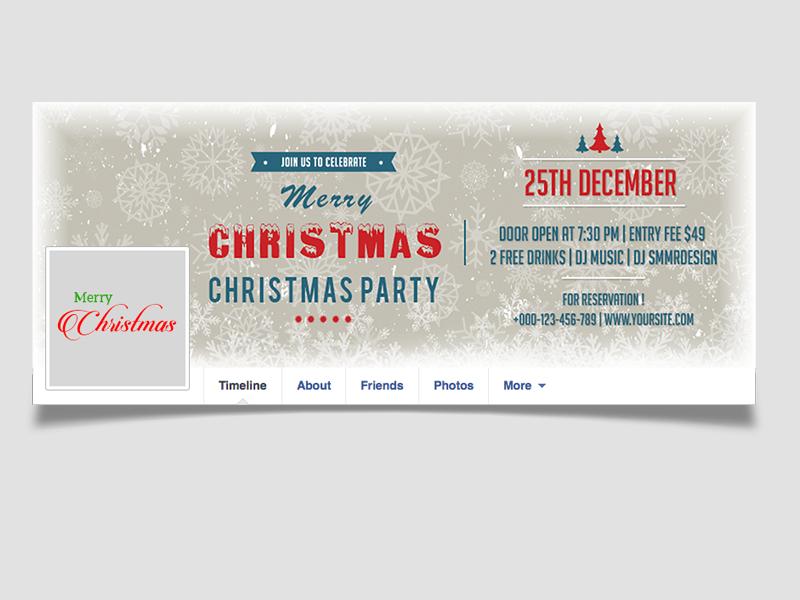 Free Christmas Facebook Timeline social media web element editable psd cover image timeline facebook