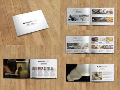 minimal interior design catalog/brochure | 24 pagess.m.
