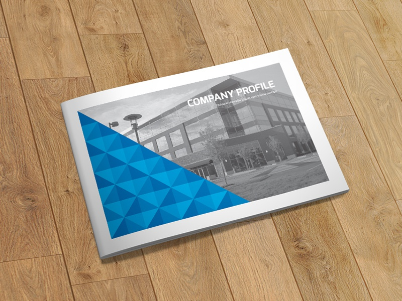 A5 Business Brochure   Indesign Template  landscape indesign template horizontal brochure geometric style fresh  clean creative corporate brochure clean brochure catalog business brochure a5