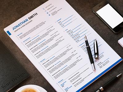Modern & Clean Resume word resume swiss resume resume psd minimal resume microsoft word fresh editable creative clean resume clean blue