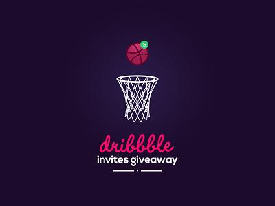 3 Invites giveaway shoot player designer design new dribbbler invite invitation dribbble