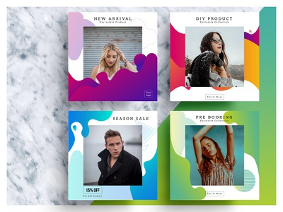 Liquid Color Social Media Banner exclusive new collection new arrival discount banner sell cloth illustrator ai colorful fashion sale banner liquid banner vector social media ads advertisement social banner banner social media media social