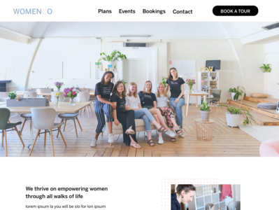 Landing Page UI- Coworking space