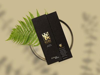 Kobe - Menu gold foil restaurant minimal menu logo branding typography graphic design design