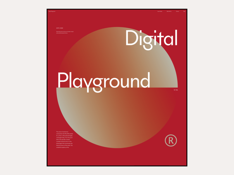 2020 Digital Playground #7 / Landing page website marketing responsive product landing ux ui ecommerce shop responsive design typography web design webdesign marketing page landing page