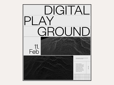 2020 Digital Playground #8 / Landing page portfolio hero design web design website marketing responsive typography ux ui editorial
