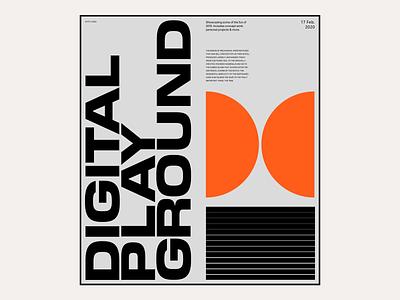 2020 Digital Playground #9 / Landing page responsive landing design portfolio design ui ux editorial marketing website hero web design typography portfolio