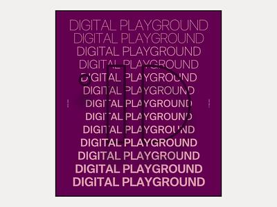 2020 Digital Playground #10 / Landing page web design portfolio design editorial poster hero product clean minimal marketing design typography