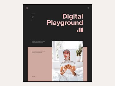 2020 Digital Playground #11 / Landing page portfolio landing page hero product editorial ux ui website web design responsive landing