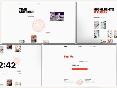 Stopwatch - Web Explorations design product design ui ux ui ux web design webdesign stopwatch time time network website marketing landing