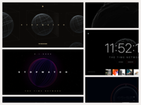 Stopwatch - Globe Explorations ios design minimal website landing feed social media responsive marketing 3d earth globe ux ui