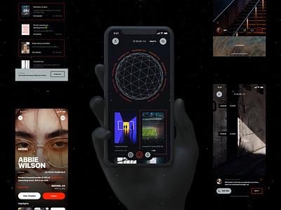 Stopwatch - Social Media App UI app ui app design application app design record search profile feed social media ios ux ui