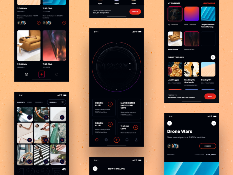 Social Media App Designs Themes Templates And Downloadable Graphic Elements On Dribbble
