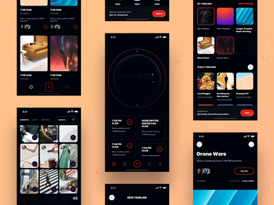 Stopwatch - Social Media App Interface timeline globe design product product page feed social media app social media user experience ux ui design ui user interface ios app design ios app ios