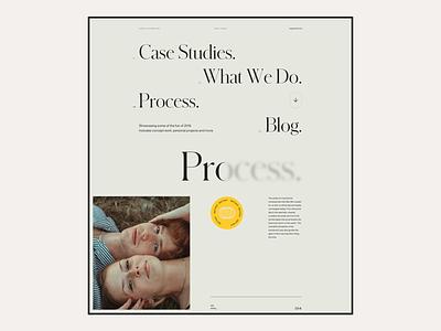 2020 Digital Playground #14 - Landing Page ux ui studio agency clean minimal website landing page case study navigation simple editorial web design typography marketing