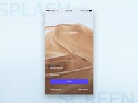 Extreme Sports Application - Splash Screen