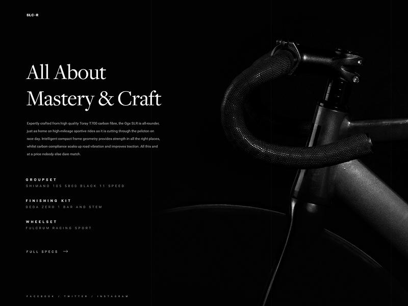 Bike Shop eCommerce Website Card design bike dark minimal responsive ui ux web eccomerce landing