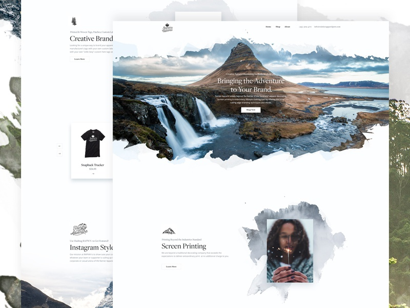 Urban eCommerce - Landing Page lifestyle website web ux ui redesign minimal interface ecommerce design concept clean