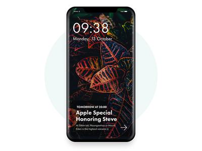 iPhone X -   iOS 11 Lock  Screen