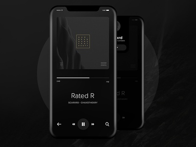 iPhone X  - Music Player App UI Concept