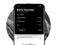 User Profile - Music Player App UI Concept