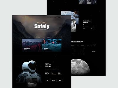 SPACED CHALLENGE -  Homepage Contest Entry layout landing design dark travel ux ui spaced moon space homepage spacedchallenge