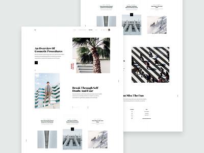 ZX Lifestyle - Magazine / Blog Webpage Concept clean header web design landing pallete ui ux responsive marketing website product minimal