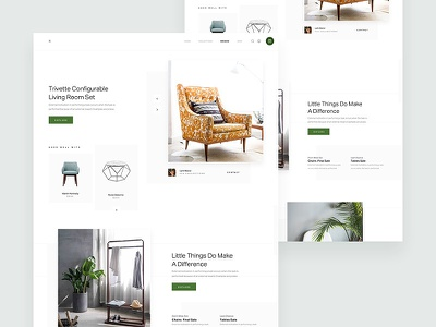 ZX eCommerce - Furniture Collections Concept minimal product website marketing responsive ux ui pallete landing web design header clean
