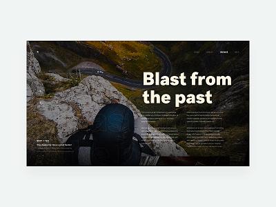 ZX Travel - Blog Header Concept Exploration minimal product website marketing responsive ux ui pallete landing web design header clean