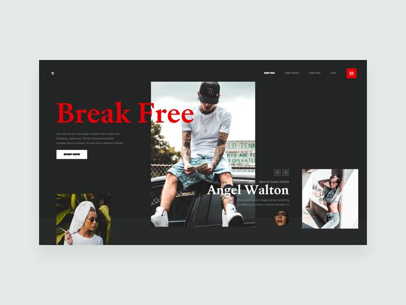 ZX Lifestyle - Magazine / Blog Webpage Concept minimal product website marketing responsive ux ui pallete landing web design header clean