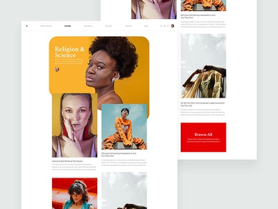 ZX Lifestyle - Editorial Blog Page minimal product website marketing responsive ux ui pallete landing web design interaction clean