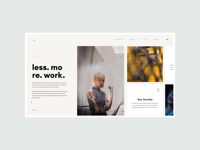 ZX Lifestyle -  Blog Page Concept minimal product website marketing responsive ux ui pallete landing web design interaction clean