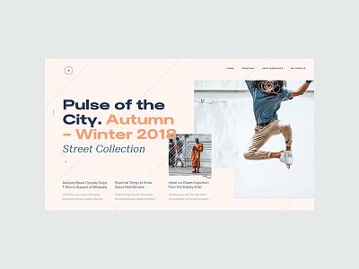 ZX Lifestyle -  Blog Page Concept clean interaction web design landing pallete ui ux responsive marketing website product minimal